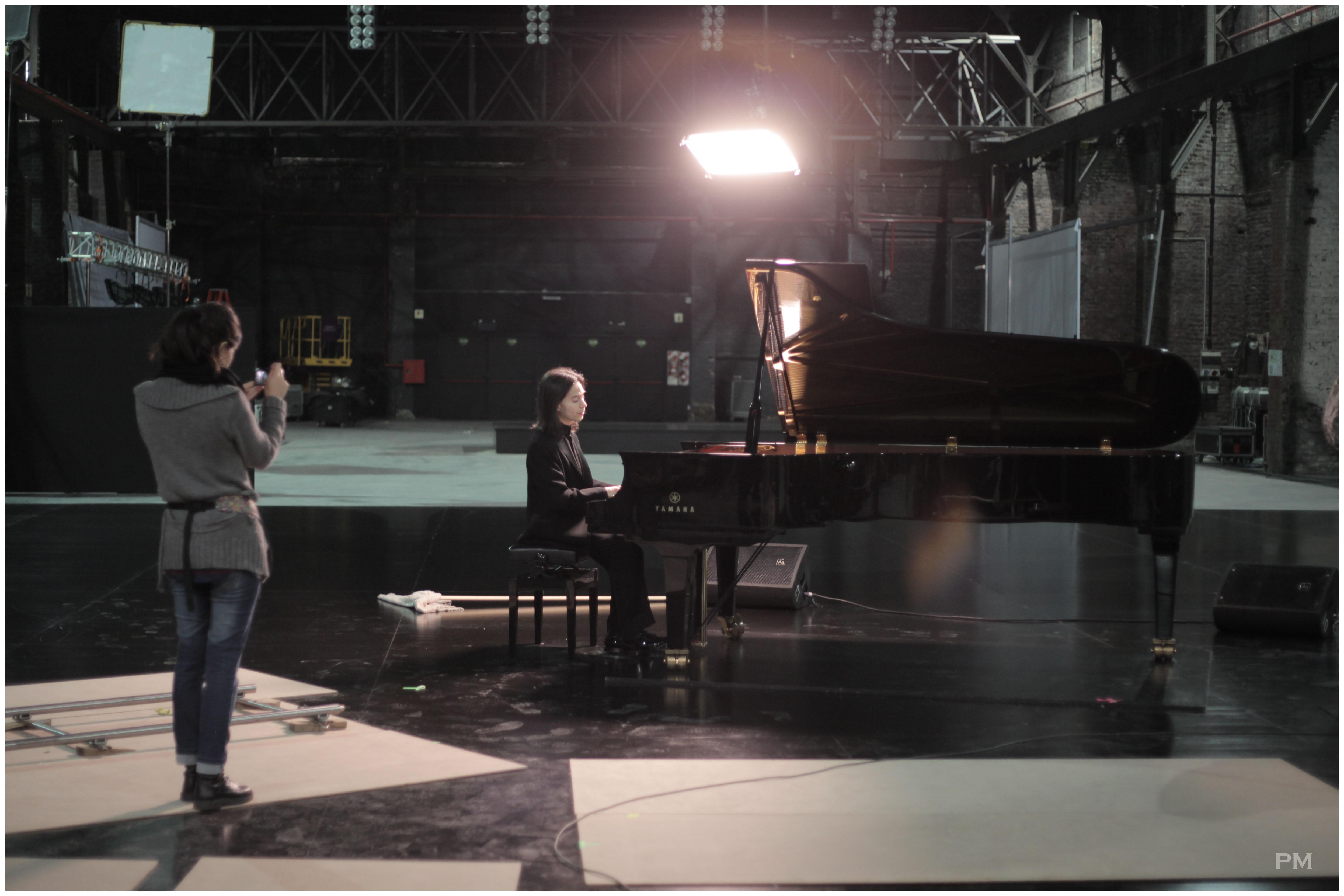 Horacio Lavandera en el set